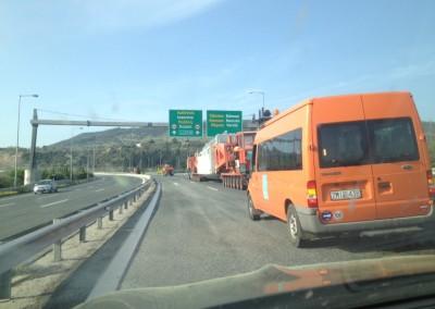 Διαδικασία οδικής μεταφοράς  ενός  ΑΜ/Σ 280 MVA  ( 298  tn ,)  του ΑΔΜΗΕ