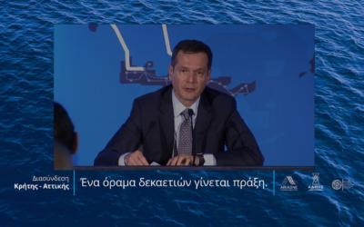 Μανουσάκης: Επίτευγμα τεχνολογικό και πολιτικό η μεγάλη διασύνδεση της Κρήτης