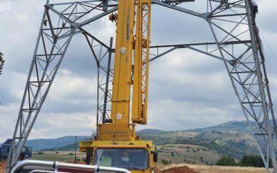 """Προχωρούν οι εργασίες κατασκευής της νέας γραμμής 400 KV που θα μεταφέρει το ρεύμα της """"Πτολεμαϊδα 5"""""""